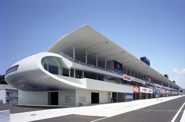 Grandstand Designs : Suzuka circuit paddock grandstand takenaka corporation